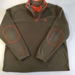 Men's Tommy Bahama fleece pullover with front zip